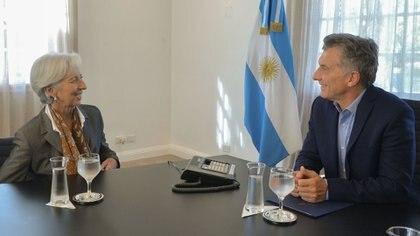 Mauricio Macri recibió el viernes a Christine Lagarde, directora del FMI, en la Quinta de Olivos.
