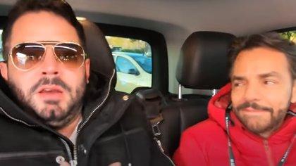 Eugenio Derbez puso incómodo a José Eduardo (Captura de YouTube)