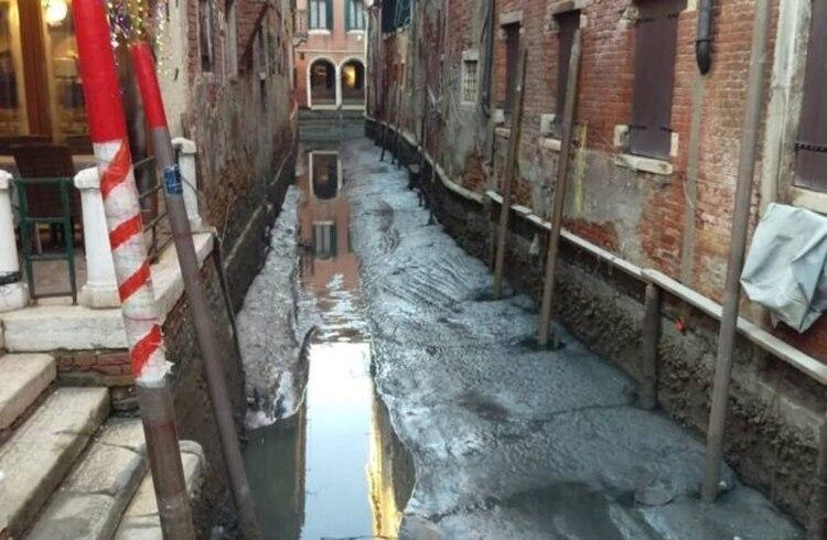 El paisaje veneciano, completamente modificado