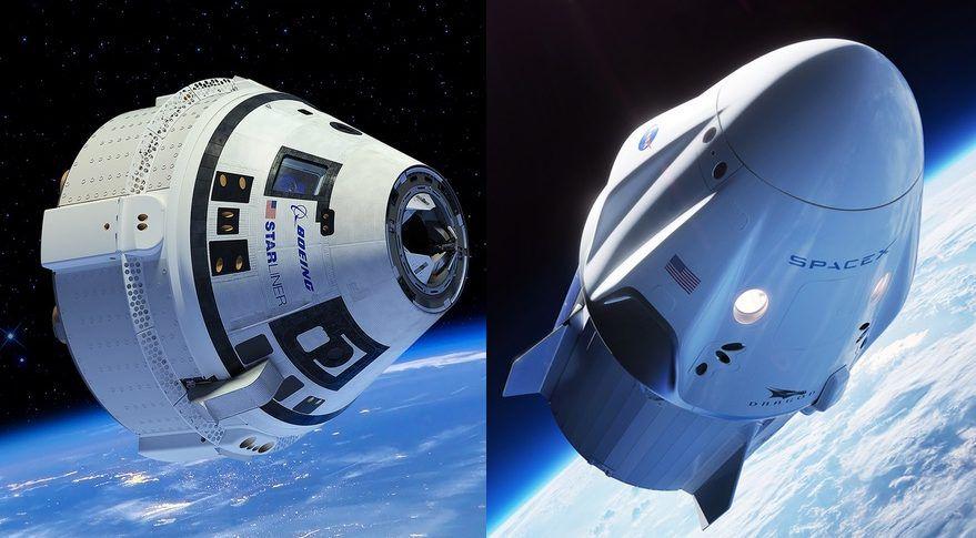 las cápsulas espaciales Starliner, de Boeing y Crew Dragon, de SpaceX,m llevarán a los primeros astronautas estadounidenses de vuelta al espacio desde suelo norteamericano (Boeing y SpaceX)