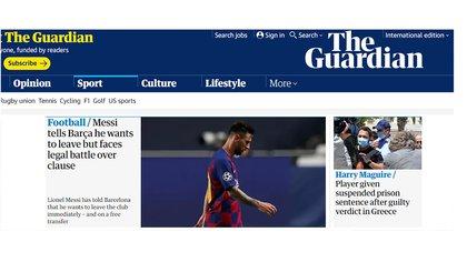 """Messi le comunica al Barcelona que se quiere ir, pero enfrenta una batalla legal"""
