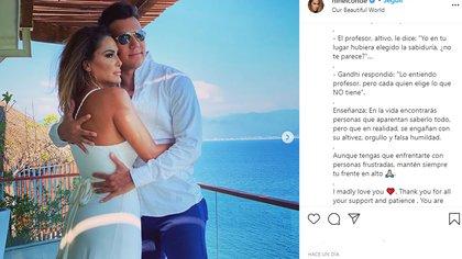 Ninel Conde defendió a su novio a través de reflexiones de grandes pensadores (Foto: Captura de pantalla Instagram)