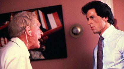Burgess Meredith y Sylvester Stallone en una escena de Rocky III (Foto: Shutterstock)
