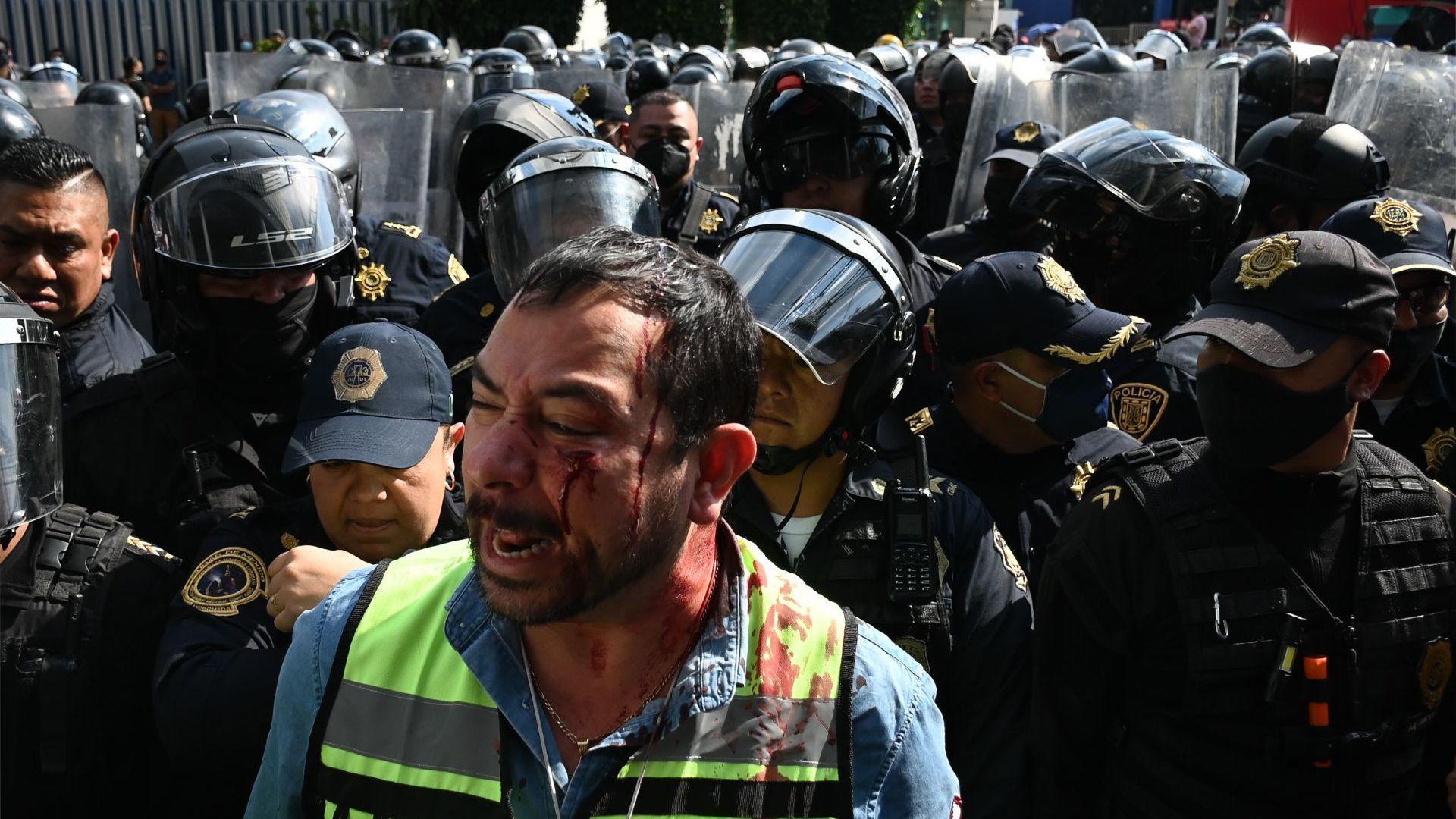 Protesta Gaseros SENER (Foto: Cuartoscuro)