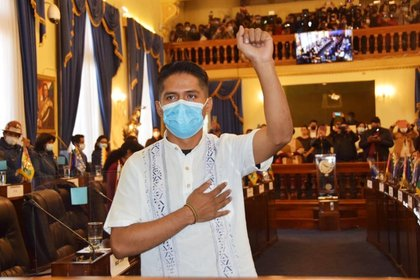 El Senado boliviano está encabezado por Andrinico Rodríguez, el cacaotero que asumió el cargo el 4 de noviembre.