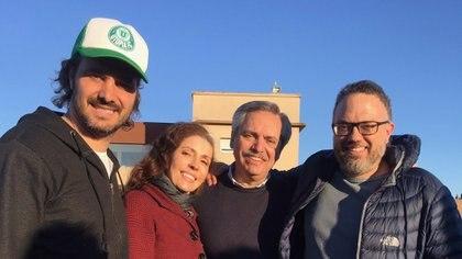 Santiago Cafiero, Yamina del Real, Alberto Fernández y Matías Kulfas