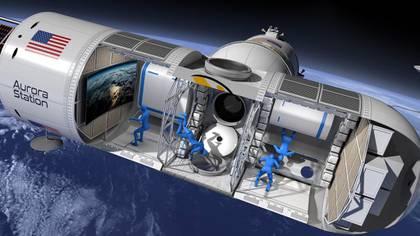 Un prototipo de Aurora Station destinado a acoger viajeros en el espacio (Cortesía Orion Space)
