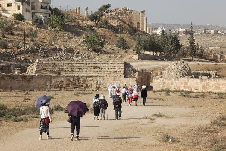 Jerash es de los sitios más visitados por turistas en Jordania (Foto:Ahmad ABDO/AFP)