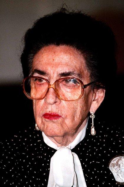 Griselda Alvarez Ponce de León durante una reunion de ex gobernadores del PRI. (Foto: Cuartoscuro)