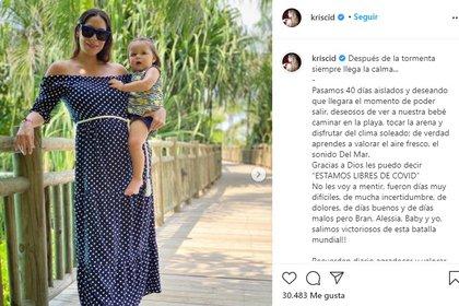 El mensaje que compartió Kristal Cid en Instagram