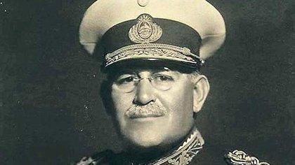 Agustín P. Justo, presidente de la Nación entre 1932 y 1938 y figura simbólica de la llamada Década Infame, a la que el golpe de 1943 puso fin