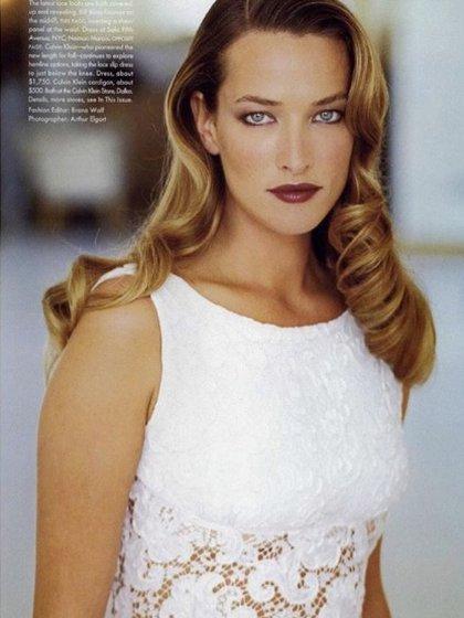 """Tatjana Patitz en """"Vogue"""", en 1995 (IG: tatjanapatitz)"""