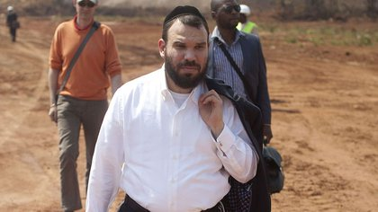 Dan Gertler at the Mutanda copper and cobalt mine in the Democratic Republic of Congo in August 2012.
