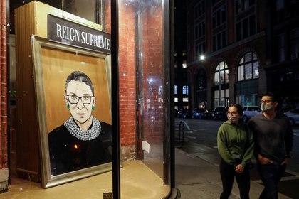 """""""RBG"""" se convirtió en un ícono de progresismo en Estados Unidos (REUTERS/Andrew Kelly)"""