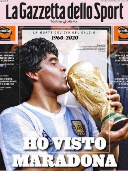 La muerte de Diego Maradona en 37 portadas de diarios y revistas del mundo - Infobae