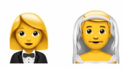 Hay nuevas variantes de género en los emojis que visten esmoquin y velo.