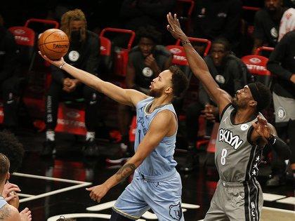 Los Grizzlies se impusieron a los Nets por 111-116 (USA TODAY Sports)