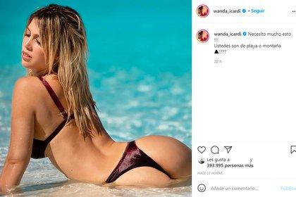 El posteo de Wanda