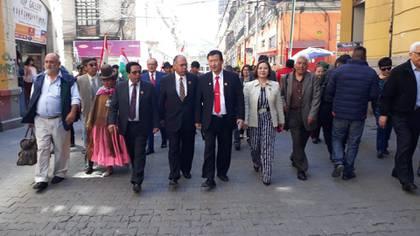Una caminata de campaña de Chi