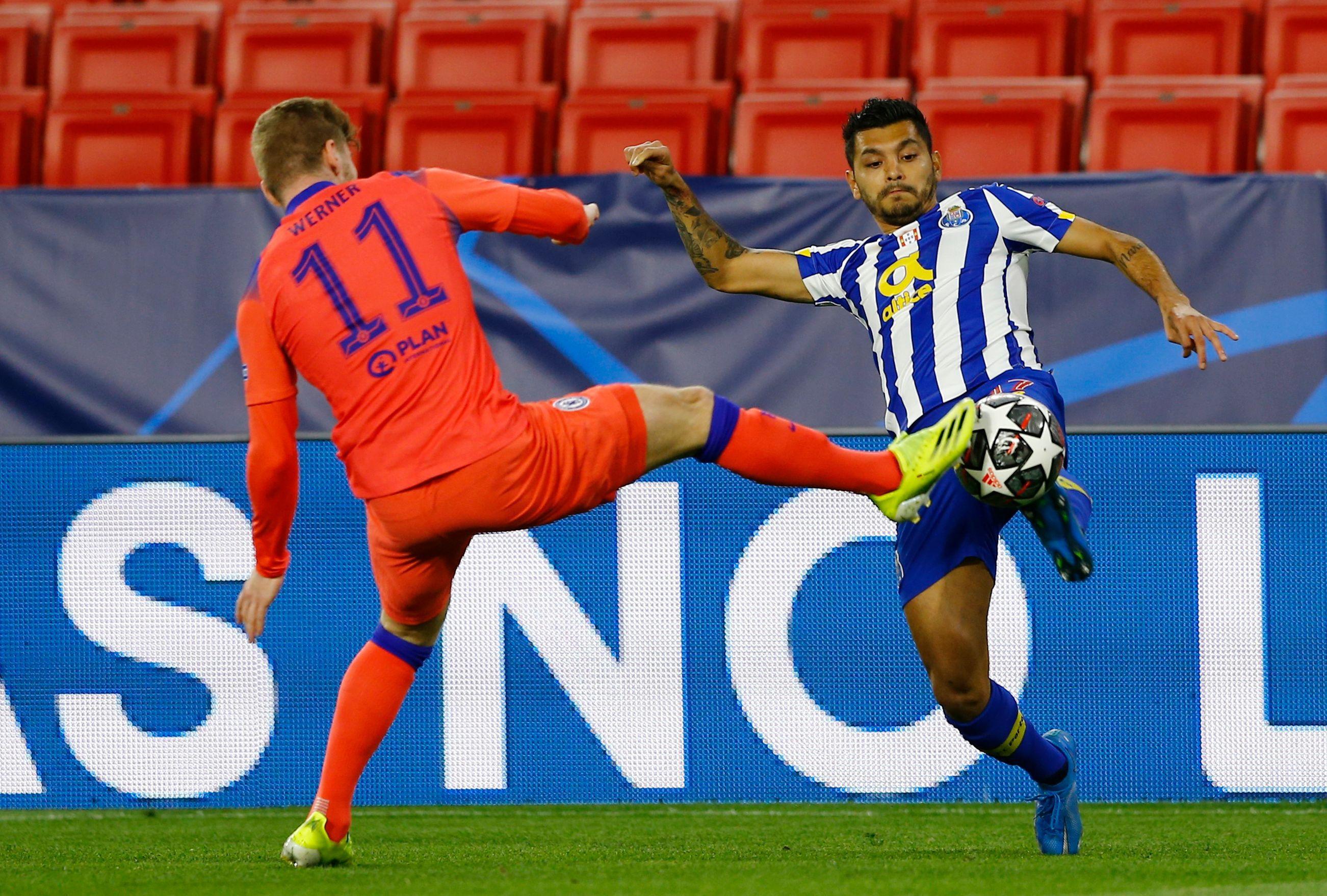 El Porto cayó 0-2 vs Chelsea en el partido de ida de los cuartos de Final de la Champions League 2021 (Foto: REUTERS/Marcelo Del Pozo)