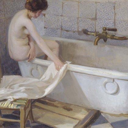 """Modelo con bañera"" (1906) de Antonio Ortiz Echagüe (Museo Reina Sofía de Madrid, España)"