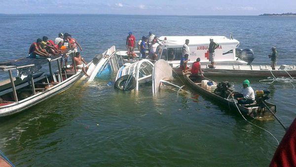 Naufragó un barco en un río de Brasil: al menos siete muertos y decenas de desaparecidos