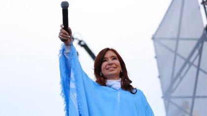Cristina Kirchner durante el cierre de campaña en Mar del Plata (Frente de Todos)