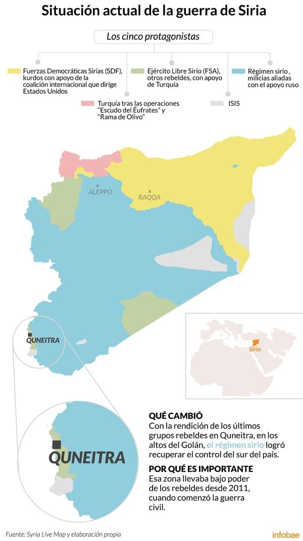 Guerra De Siria Mapa.Como Queda El Mapa De La Guerra Civil En Siria Tras La