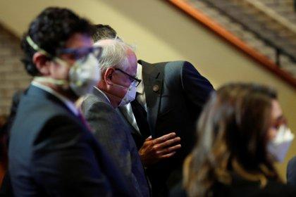 El gobernador de Minnesota Tim Walz en el funeral de George Floyd REUTERS/Lucas Jackson