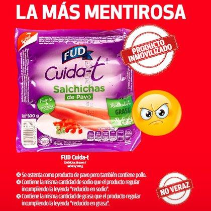 """Fud Cuida-T fue considerada como la marca """"más mentirosa"""" (Foto: Profeco)"""