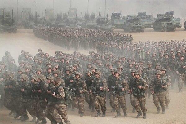 Las diferentes fuerzas del Ejército participaron del entrenamiento conjunto (The Grosby Group)