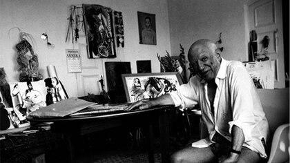 El legendario artista vivió sus últimos años en la mansión, rodeado de sus obras de arte (Inmobiliria R365)