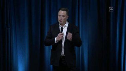 Elon Musk durante la presentación de los chips desarrollados por Neuralink, el 28 de agosto de 2020