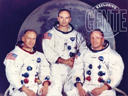 La misión del Apolo 11, compuesta por el comandante Neil Armstrong (38; el único que a la fecha falleció) y los pilotos Michael Collins (38) y Edwin Aldrin (39), que partió el 16 de julio del '69.