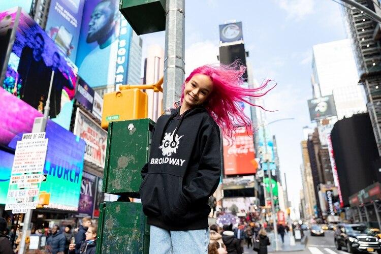 Vida Spinetta en Times Square (Crédito: Nicolás Manassi)