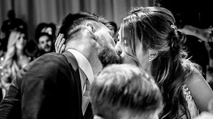 La foto que Antonela Roccuzzo recordó para saludar a Leo Messi por San Valentín