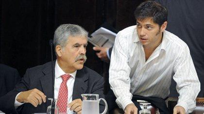 Kicillof junto al entonces ministro de Planificación, Julio De Vido, cuando explicaron al Congreso la expropiación de acciones de Repsol para que el Estado tuviera la mayoría de YPF (NA: Hugo Villalobos)