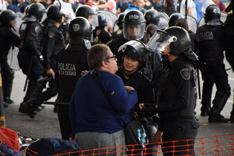 La militar que fue detenida por la Policía porteña