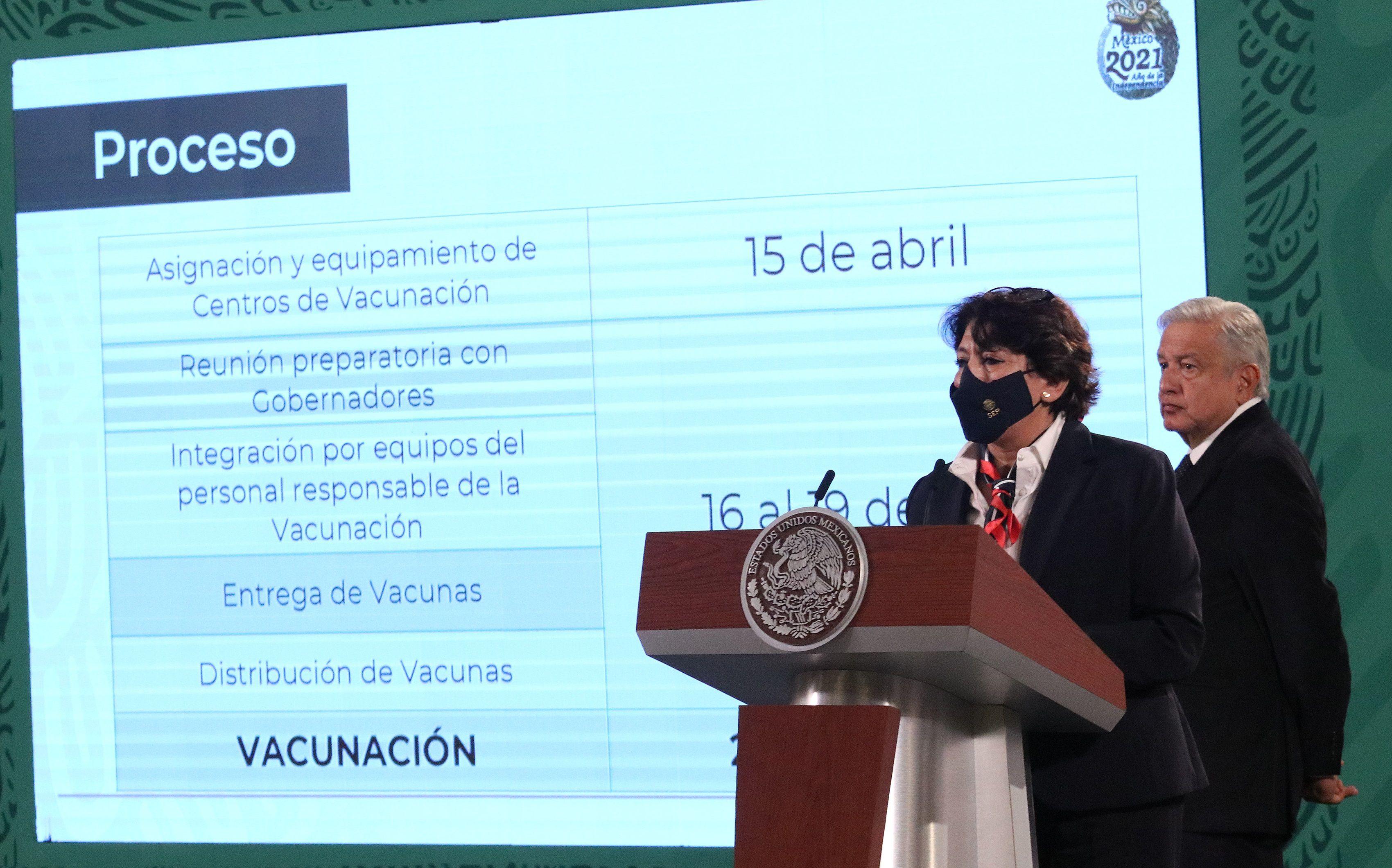 La titular de la Secretaria de Educación Pública (SEP), Delfina Gómez. EFE/José Pazos/Archivo