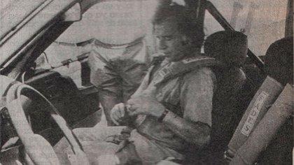 En el asiento derecho de un Fiat Donna.  Fue en La Rioja, donde acompañó a Reutemann (archivo de CORSA).