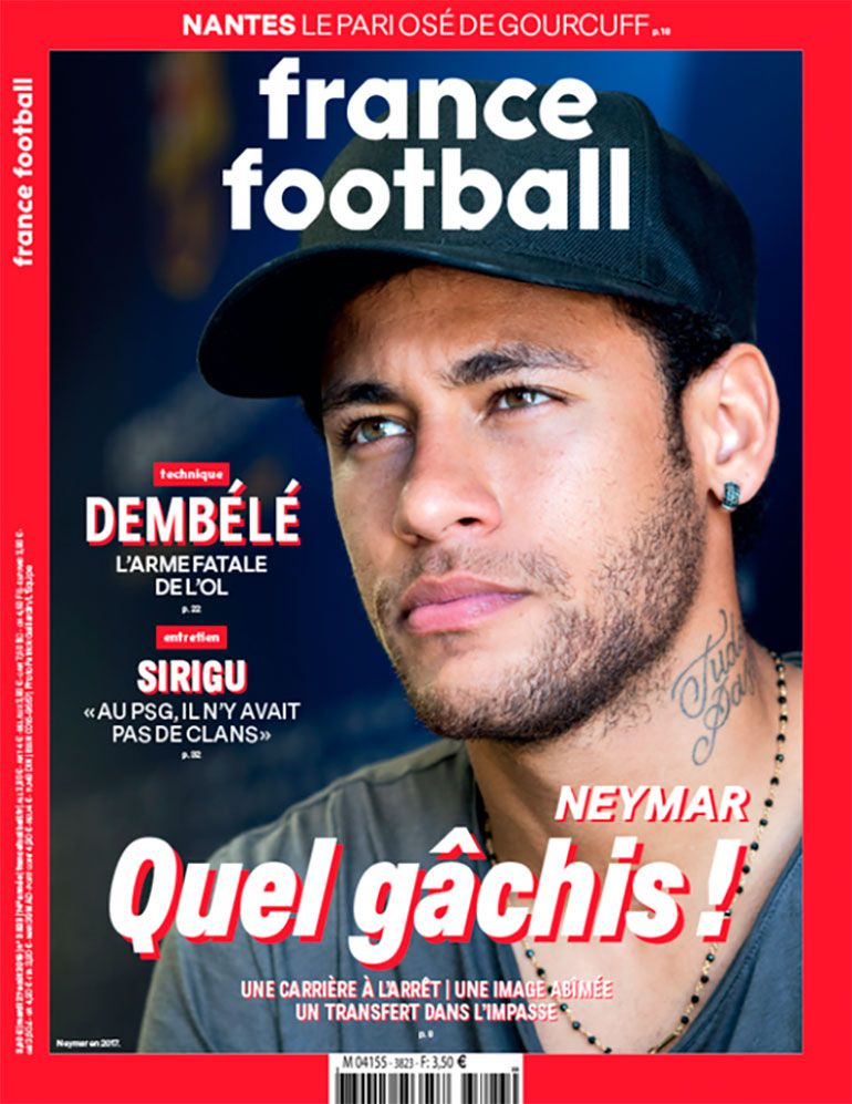 La tapa de France Football contra Neymar