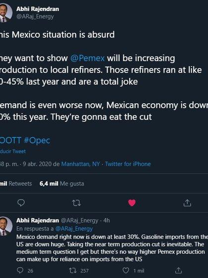El gobierno de México recibió alguna críticas luego del papel de la secretaria de Energía en la reunión (Foto: captura de pantalla)