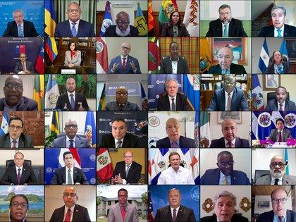La 50° Asamblea General de la OEA se realizó de modo virtual debido a la pandemia del COVID-19 (Foto: OEA)