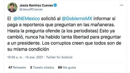 Foto: @JesusRCuevas /  Twitter.