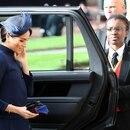 Meghan Markle al llegar a la boda de la princesa Eugenia este viernes (Gareth Fuller / POOL / AFP)