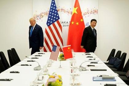 El presidente Donald Trump y su par chino Xi Jinping