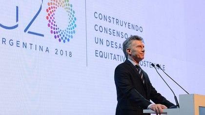 Mauricio Macri en la reunión de ministros de Finanzas del G20, en marzo deeste año