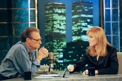 Sarah Ferguson apareció en el programa Larry King Live de la cadena CNN en Nueva York. 20 de noviembre de 1997