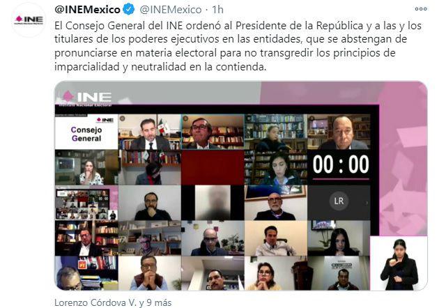 INE AMLO callar temas electorales