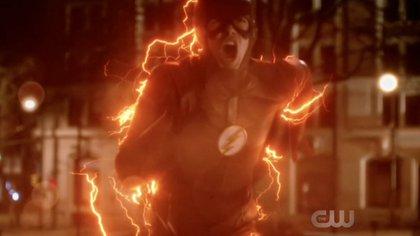 Flash, en la versión de televisiva, interpretado por Grant Gustin